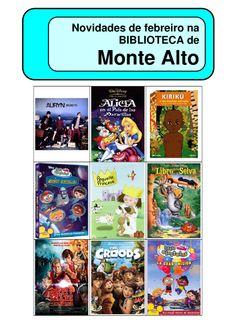 Novos audiovisuais infantís na biblioteca de Monte Alto.