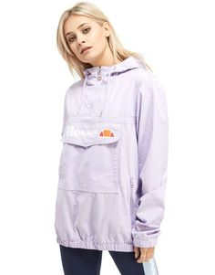 image 1 of ellesse pullover hooded jacket with half zip and logo on front clothes accesories. Black Bedroom Furniture Sets. Home Design Ideas