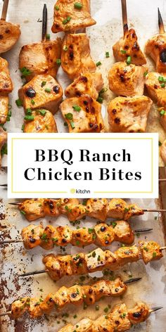 Recipe: BBQ Ranch Chicken Bites — Recipes from The Kitchn Chicken Bites, Chicken Skewers, Ranch Chicken, Bbq Chicken, Baked Chicken, Ranch Dressing Chicken, Chipotle Chicken, Chicken Meals, All You Need Is