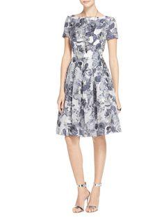 9d8cd44a6a Metallic Etched Floral Dress
