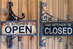 Kitchen Swivel Open Closed Sign - from Antiquefarmhouse.com
