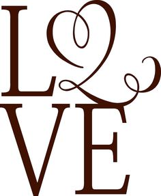 LOVE -Vinyl Lettering wall words