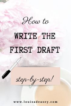 Write your first draft with these steps and techniques from a bestselling author. #writingadvice #writingprompts #writingtips #creativewriting