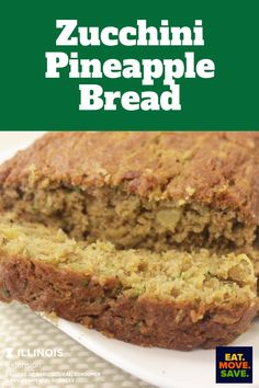 Add an extra zing of flavor to your zucchini bread by adding pineapple! #zucchinbread #pineapple #zucchini