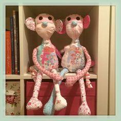 Em Teacup twin patchwork monkeys