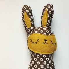 stuffed toy bunny plush bunny toy stuffed animal by sleepyking