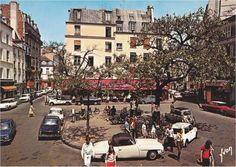 Paris 1970 la place de la Contrescarpe. Encore vraiment la place du village du quartier de la Mouff'