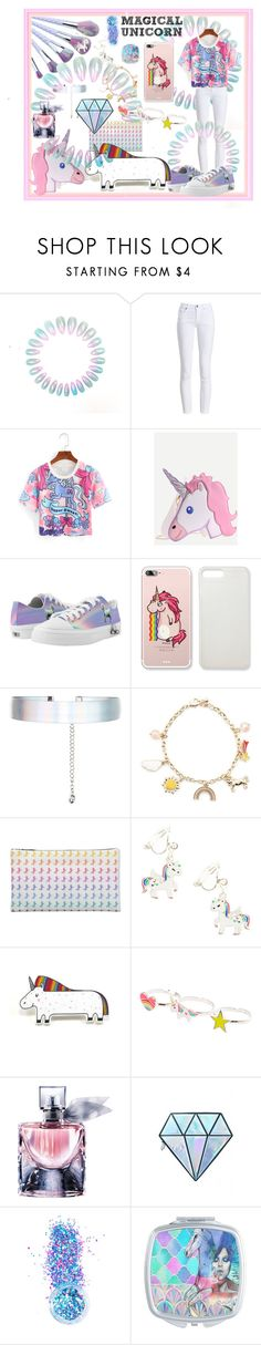 """""""Unicorn Magic"""" by chayanit-ear ❤ liked on Polyvore featuring Barbour, Accessorize, Forever 21, claire's, Lancôme, Unicorn Lashes and In Your Dreams"""