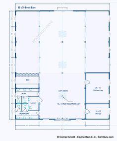 Party Event Barn Plans - - Design Floor Plan