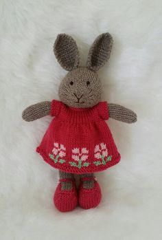 Hey, I found this really awesome Etsy listing at https://www.etsy.com/listing/220953703/knit-bunny-rabbit-with-dress-mary-jane
