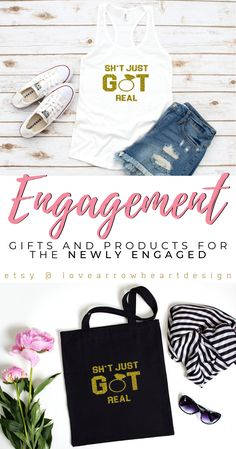 Engagement Gifts and Engaged Clothing for the Newly Engaged by Lovearrowheartdesign. These engagement gifts ideas are perfect to celebrate your … Softball Wedding, Basketball Wedding, Bridal Shower Gifts For Bride, Bride Gifts, Engagement Gifts, Engagement Couple, Engagement Ideas, Engagement Photos, Presents For The Bride