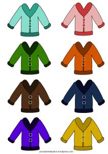 Δραστηριότητες: χρώματα και ρούχα του χειμώνα