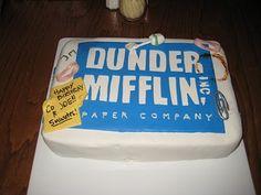The Office birthday cake Eliass bday Pinterest Office