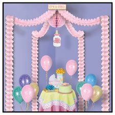 It's A Girl Pink Baby Shower Decoration Canopy Kit