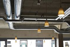 Aubaine Wimbledon | B3 Designers  Cool #industrial looking #exposed duct work
