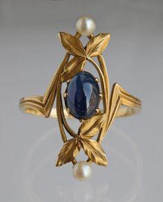 "cgmfindings: "" Art Nouveau Ring Gaston Laffitte """
