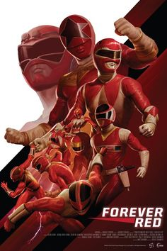 Forever Red Screen Print - Lineage StudiosYou can find Power rangers and more on our website. Samurai Power Rangers, Power Rangers Poster, Power Rangers Fan Art, Power Rangers Comic, Mighty Morphin Power Rangers, Todos Os Power Rangers, Desenho Do Power Rangers, Power Rangers Força Animal, Power Rengers