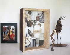 Large Found art assemblage sculpture Bodies of Attraction by #LucentTraveler on #Etsy #DallasArtist #FoundArt #AssemblageArt #Sculpture #PaulAshby