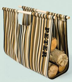 Firewood Carrier : Home Decor Fabric Projects : Shop Online Craft Store, Craft Stores, Home Decor Fabric, Fabric Crafts, Firewood Carrier, Firewood Rack, Log Carrier, Sewing Projects For Kids, Diy Projects