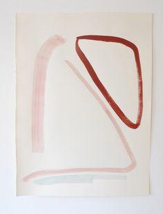 Lines 38, oil painting on paper, 2016, 24 cm x 32 cm © rosemarie auberson www.rosemarieauberson.com