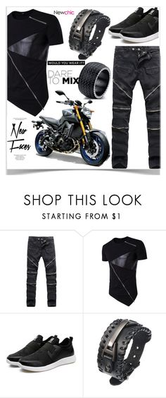 """""""Newchic"""" by kiveric-damira ❤ liked on Polyvore featuring Topshop, men's fashion and menswear"""
