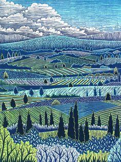 Italian Landscape I – Daryl V. Storrs Artworks