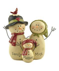 Look what I found on #zulily! Snowman Family of Three Child #zulilyfinds