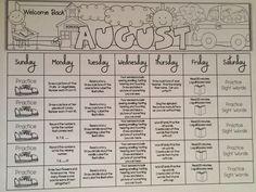 Christmas in July {Year-Round Homework} Kindergarten Homework Folder, Homework Binder, Homework Calendar, Kindergarten Calendar, Kindergarten Classroom, Kindergarten Activities, Homework Folders, Homework Ideas, School Tool