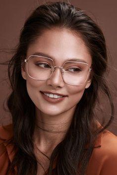 Glasses Frames Trendy, Nice Glasses, Glasses Shop, Girls With Glasses, Cheap Eyeglasses, Eyeglasses For Women, Sunglasses Women, High Bun Hair, Hair Buns