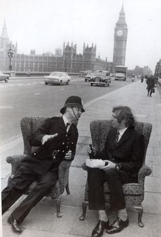 Michael Palin & Graham Chapman in a skit from Monty Python