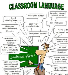 The language spoken in the lessons is English. Here are some phrases you should know, understand, or be able to use. grundschule Classroom Language For Teachers and Students of English English Words, English Lessons, English Grammar, Learn English, French Lessons, Spanish Lessons, Learn French, English Language Learning, Teaching English