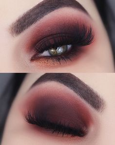 My make up from Urban Decay party . - My make up from Urban Decay party Red and black party makeup - Makeup Inspo, Makeup Inspiration, Beauty Makeup, Hair Makeup, Beauty Tips, Red Eyeshadow Makeup, Makeup Ideas, Dark Eyeshadow, Beauty Ideas
