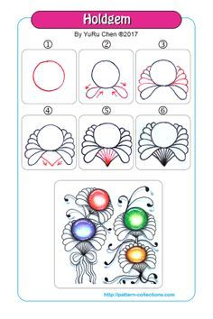 sun doodle patterns step by step Zentangle Drawings, Doodles Zentangles, Doodle Drawings, Tangle Doodle, Zen Doodle, Doodle Art, Doodle Patterns, Zentangle Patterns, Flower Patterns