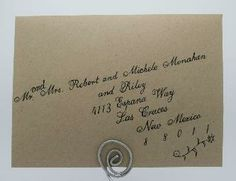 Professional Calligraphy for Weddings and Special Events | SCRIPT OPTIONS