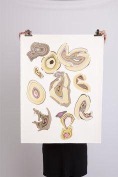 Art Works on Paper are exclusive one-off marbeling prints. Handprinted by Pernilles Snedker Hansen.