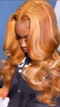 Black Girl Braided Hairstyles, Baddie Hairstyles, Pretty Hairstyles, Colored Weave Hairstyles, Frontal Hairstyles, Hairstyle Ideas, Dyed Natural Hair, Dyed Hair, Curly Hair Styles