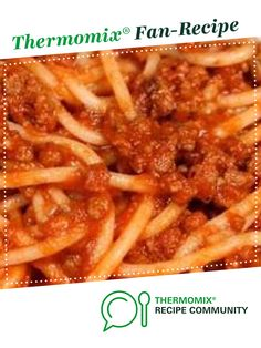 Recipe Chunky Spaghetti Bolognese by mumoftwoboys, learn to make this recipe easily in your kitchen machine and discover other Thermomix recipes in Pasta & rice dishes. Mince Recipes, Recipes Dinner, Beef Recipes, Cooking Recipes, Savoury Recipes, Dinner Ideas, Beef Meals, No Cook Meals, Rice Dishes
