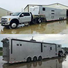 "5,337 curtidas, 35 comentários - Alumi-Duty (@alumiduty) no Instagram: ""#f450 @zemakmotorsports @wasatchtrailersales #tagtheowner…"" Toy Hauler Trailers, Car Trailer, Utility Trailer, Dually Trucks, Diesel Trucks, Pickup Trucks, Custom Trailers, Custom Trucks, Mini Trucks"