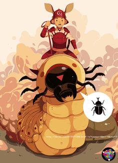 虫子虫子。_涂鸦王国 原创绘画平台 www.poocg.com
