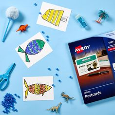 Avery postcards are the perfect addition to your arts and crafts box! Check out avery.com/ideas for more inspiration.