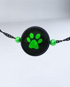 Cat Noir Steel Twist Necklace with Bead
