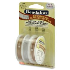 Beadalon Stringing Wire 19Strand 015Inch 38Millimeter Diameter 10Feet Package of 3 GoldSilverCopper