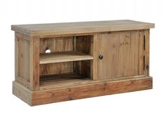 Albany Solid Pine Natural Finish 1 Door TV Unit | TV Units from FADS £399