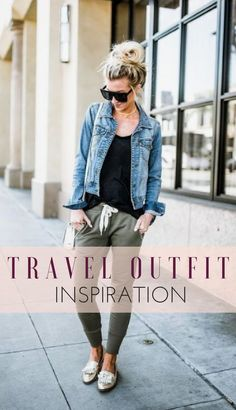 Travel Outfits: Travel Outfit Ideas for Women Comfortable travel clothing – comfy travel outfit summer Casual Travel Outfit, Cute Travel Outfits, Travel Outfit Summer, Vacation Outfits, Summer Outfits, Travelling Outfits, Summer Travel Fashion, Summer Airport Outfit, Airport Travel Outfits