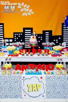 Superhero Birthday Party via Karas Party Ideas | KarasPartyIdeas.com #superhero
