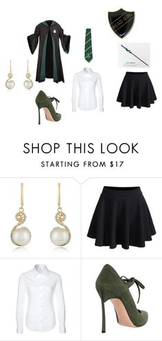 """""""Carina's Uniform"""" by bookprincess-313 on Polyvore featuring Effy Jewelry, WithChic, Replay and Casadei"""