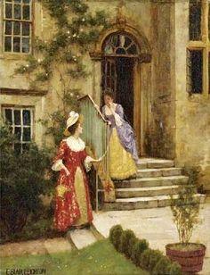 Gossip ~ Edmund Blair Leighton ~ (English: 1852-1922)