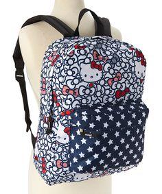HK  ❣  HELLO KITTY Black & White Bow Backpack
