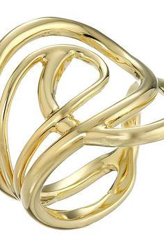 Elizabeth & James Ellie Ring in Metallic Gold 1YQkWmV