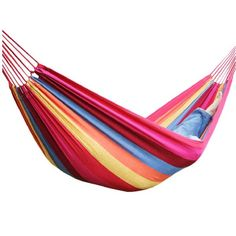 Canvas Hammock Tourism Camping Hunting Leisure Hammock Color Red >>> More info could be found at the image url. (This is an affiliate link) Hammock Swing Chair, Hanging Hammock, Rope Swing, Swinging Chair, Indoor Swing, Indoor Hammock, Beach Gardens, Tourism, Gardens